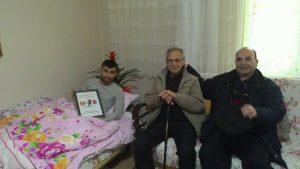 Afrin Gazisini Evinde ziyaret.